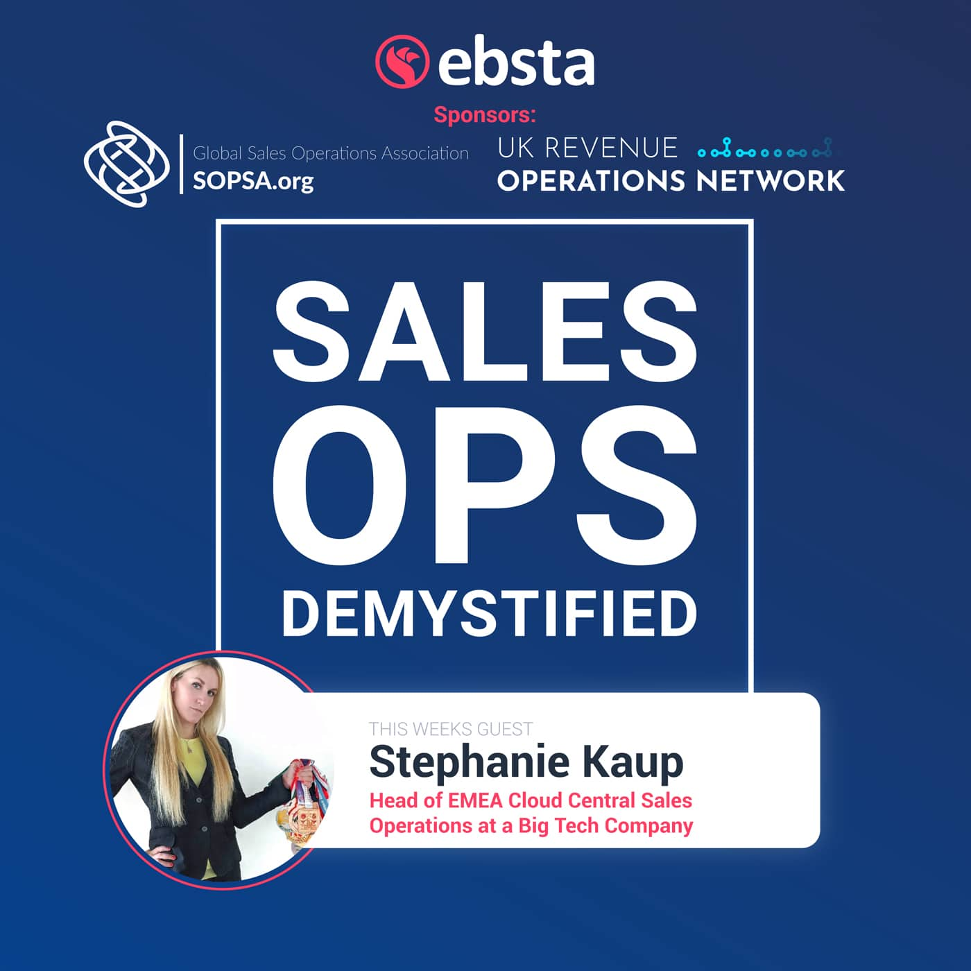 How To Balance Sales Strategy And Operations With Stephanie Kaup Head Of Emea Sales Operations At A Big Tech Company Global Sales Operations Association